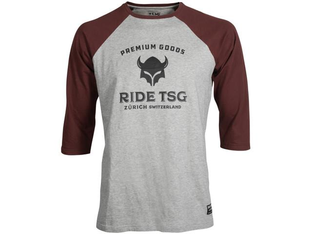 TSG Origins 3/4-hihainen Raglan T-paita, heather grey/red